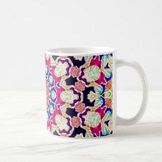Mandala abstracta multicolora del caleidoscopio taza de café