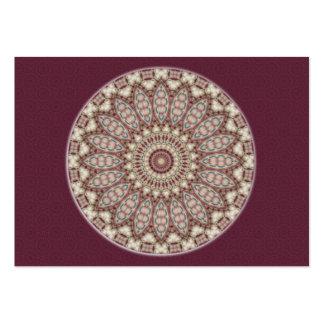 Mandala acolchada de la comodidad - tarjeta de tarjetas de visita grandes