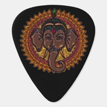 Mandala Adorable Elephant Metallizer Guitar Pick by thegoldroom at Zazzle