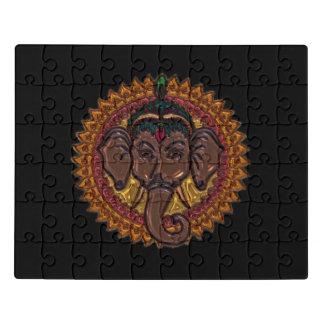 Mandala Adorable Elephant Metallizer Jigsaw Puzzle