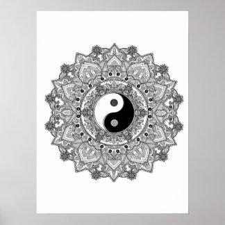 Mandala adult coloring Poster