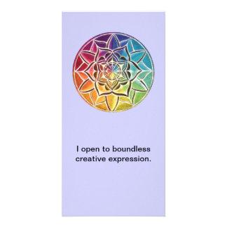 Mandala Affirmation Card- Visualization Tool Card