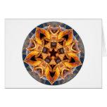 Mandala aherrumbrada del ancla tarjeta