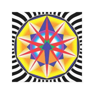 Mandala Alcance Impressão Em Canvas