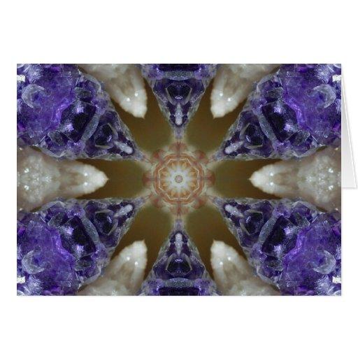 Mandala Amethyst del cristal del placer Tarjeta De Felicitación