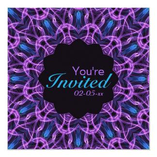 Mandala Amethyst del deseo Invitación 13,3 Cm X 13,3cm
