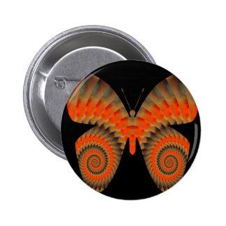 Mandala anaranjada del remolino de la mariposa de pin
