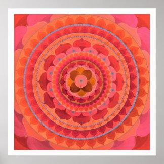 Mandala anaranjada poster
