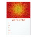 Mandala anaranjada y amarilla de Sun/de la Invitación 12,7 X 17,8 Cm