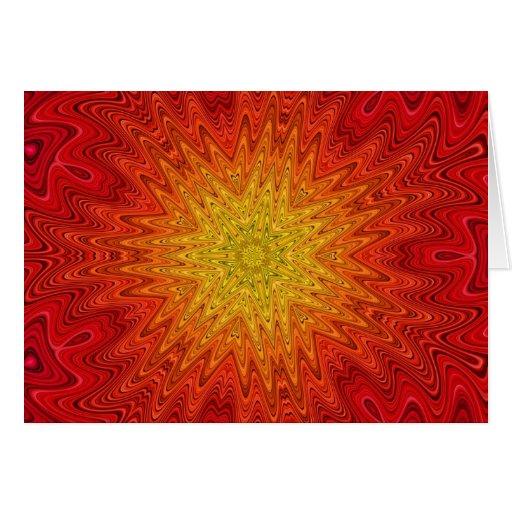 Mandala anaranjada y amarilla de Sun/de la Tarjeta De Felicitación