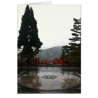 Mandala and view from main temple greeting card