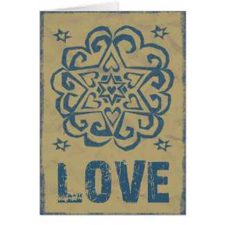 Mandala apenada del amor de las estrellas de los tarjeta de felicitación