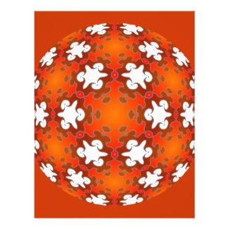 """Mandala ardiente del caleidoscopio de la calidad folleto 8.5"""" x 11"""""""