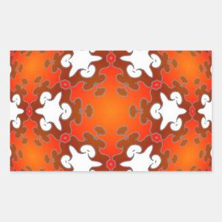 Mandala ardiente del caleidoscopio de la calidad rectangular pegatina
