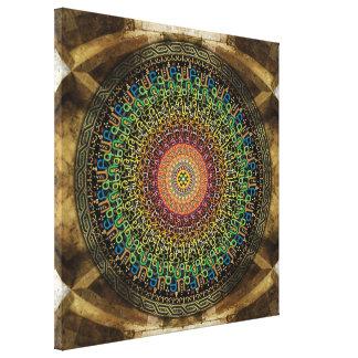Mandala Armenian Alphabet Canvas Print