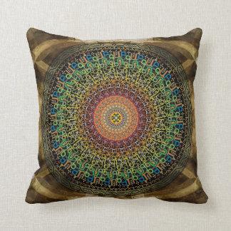 Mandala Armenian Alphabet Throw Pillows