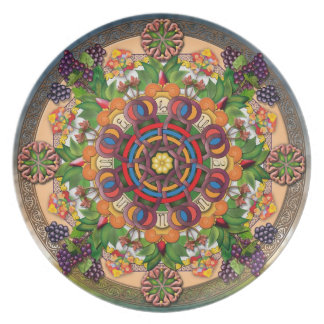 Mandala Armenian Grapes Plate