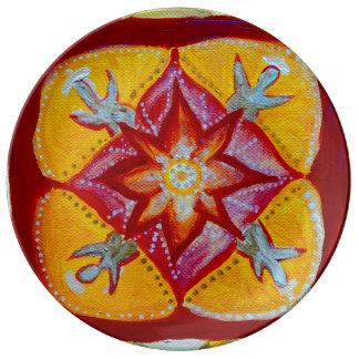 Mandala Art 27.3 cm Decorative Porcelain Plate