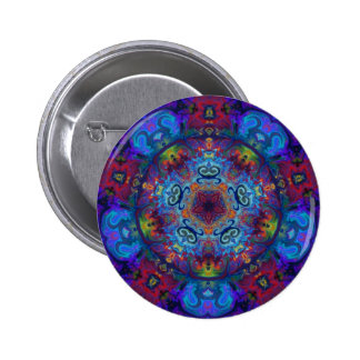 Mandala Art Abstract Design 2 Inch Round Button
