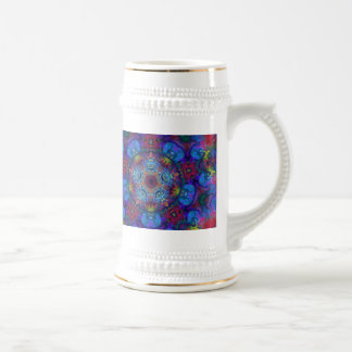 Mandala Art Abstract Design Beer Stein
