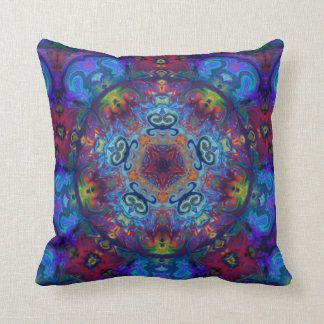 Mandala Art Abstract Design Throw Pillows