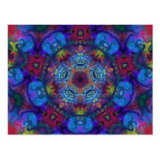 Mandala Art Abstract Design Postcard