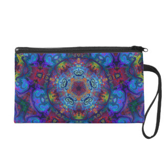 Mandala Art Abstract Design Wristlet Clutch