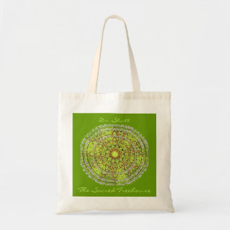 Mandala Art Bag green