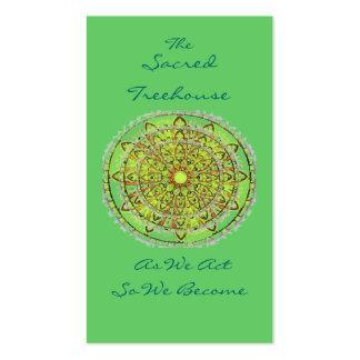 Mandala Art Green Bookmark Profile Card