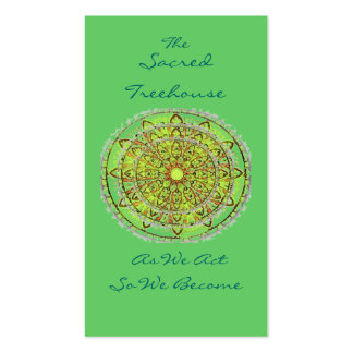 Mandala Art Green Bookmark Profile Card Double-Sided Standard Business Cards (Pack Of 100)