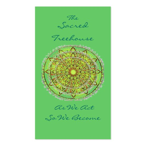 Mandala Art Green Bookmark Profile Card Business Card