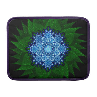 Mandala ártica de la flor fundas MacBook