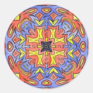 Mandala Aug 7 2014 Classic Round Sticker