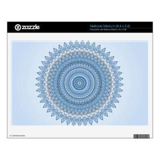 Mandala azul calcomanía para netbook mediano