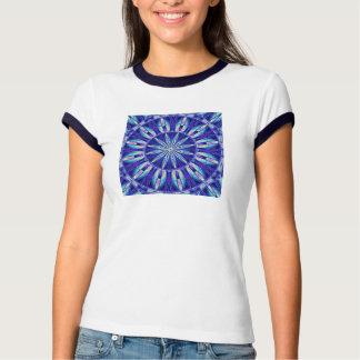 Mandala azul de la pluma camisas