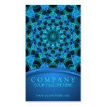 Mandala azul de las medusas tarjetas de visita