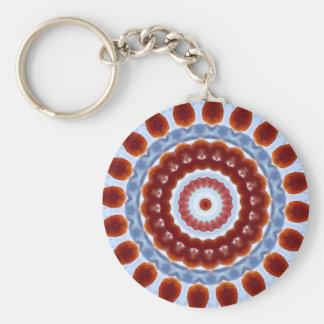 Mandala azul del caleidoscopio de la ágata llavero personalizado