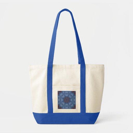 Mandala azul del Encaustic Bolsa De Mano