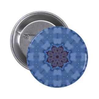 Mandala azul del Encaustic Pin