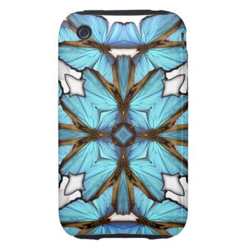 Mandala azul del estuche rígido del iPhone 3G/3GS iPhone 3 Tough Carcasa