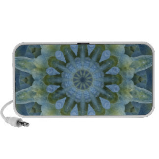 Mandala azul del Hydrangea Altavoces De Viaje