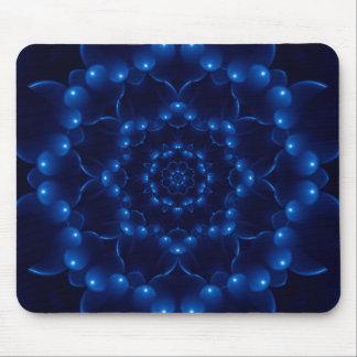 Mandala azul eléctrica alfombrilla de ratón
