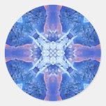 Mandala azul etiquetas redondas