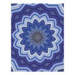 Mandala azul membrete