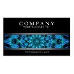 Mandala azul moderna de las medusas tarjetas de visita