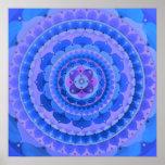 Mandala azul poster