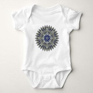 Mandala azul y blanca del zafiro del diamante de playeras