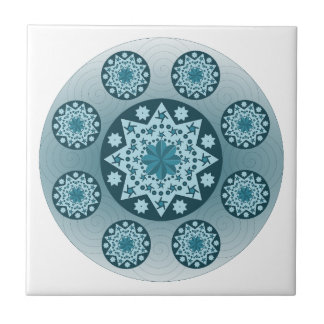 Mandala Azulejo Cuadrado Pequeño
