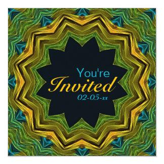 Mandala bien colorida invitación 13,3 cm x 13,3cm