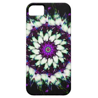 Mandala blanca y púrpura del caleidoscopio iPhone 5 cobertura